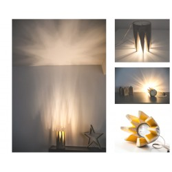 Star Light Veioza Decorativa Orange Lemn Reciclat Led GU10
